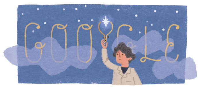 Google doodle of Annie Jump Cannon