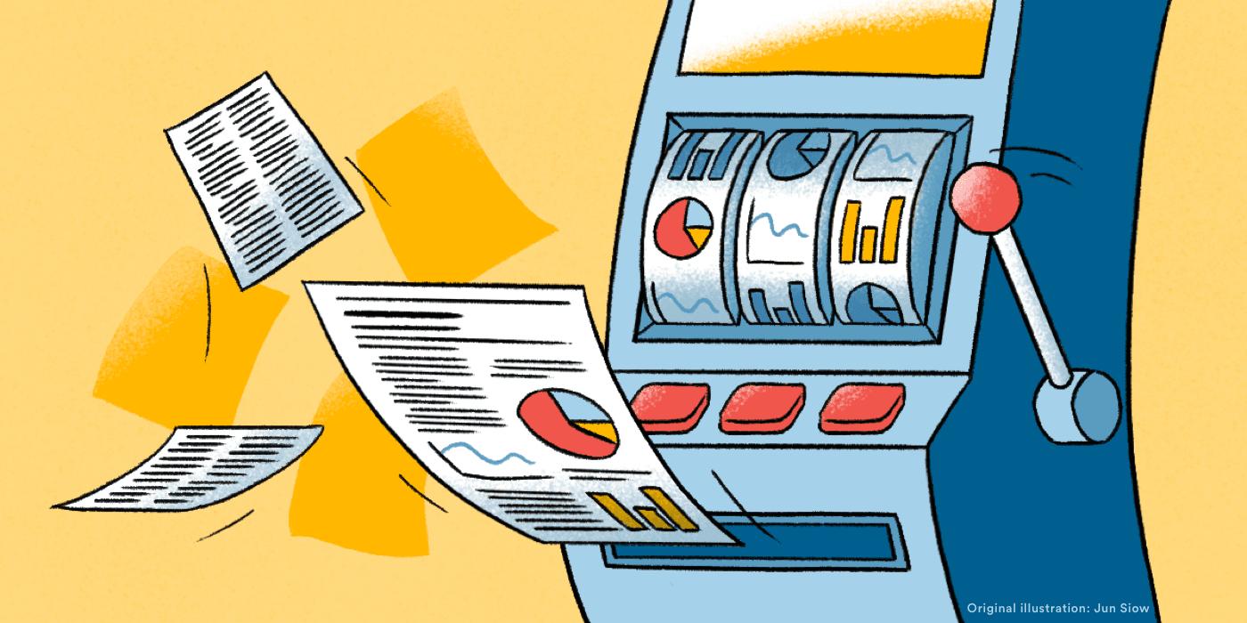 Slot machine generating random scientific papers