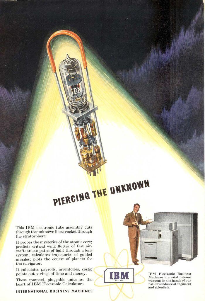 IBM punchcard computer ad
