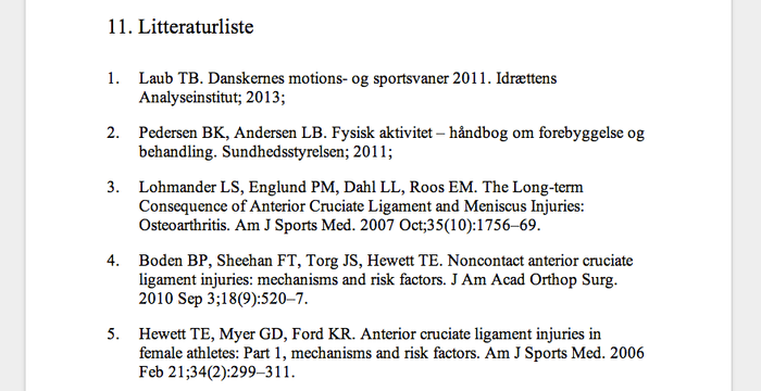 "The ""Litteraturliste"", or works cited section. Mathias and his group collaboratively cited 127 papers in their thesis work."