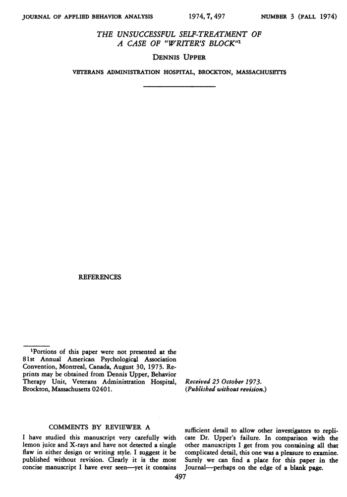 The shortest paper ever?