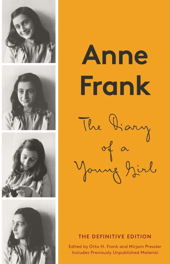 Book cover of diary of a young girl by Anne Frank