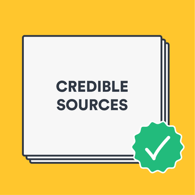 What are credible sources? image