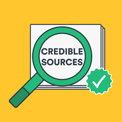 How can I find credible sources? image