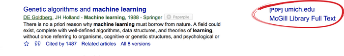 Google Scholar quick link to PDF