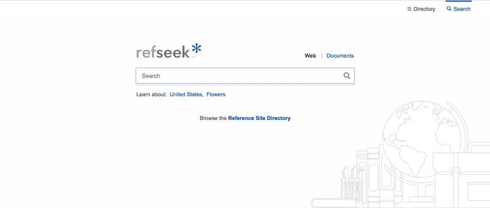 Search interface of RefSeek