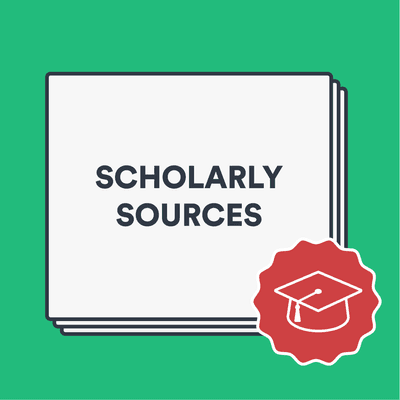 What is a scholarly source? image