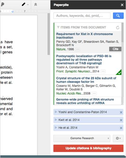 Google Docs citation add-on