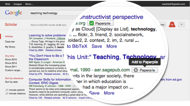 Google scholar integration