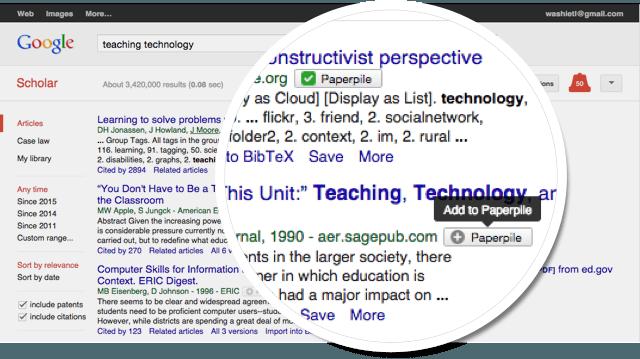 Google scholar integration