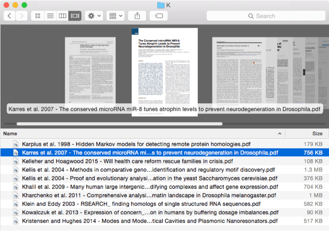 Research papers synced to Desktop with Google Drive