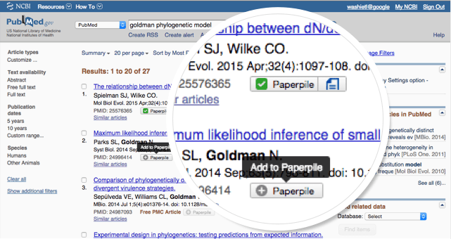 PubMed integration