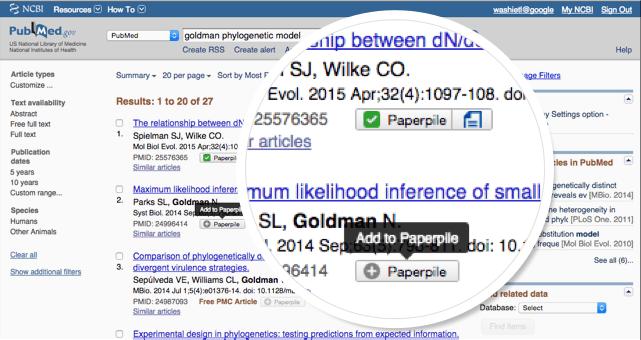 PubMed integration