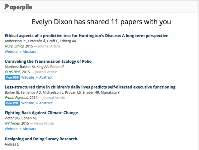 Share papers on the web