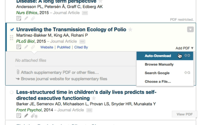 Automatic PDF downloads of scientific articles